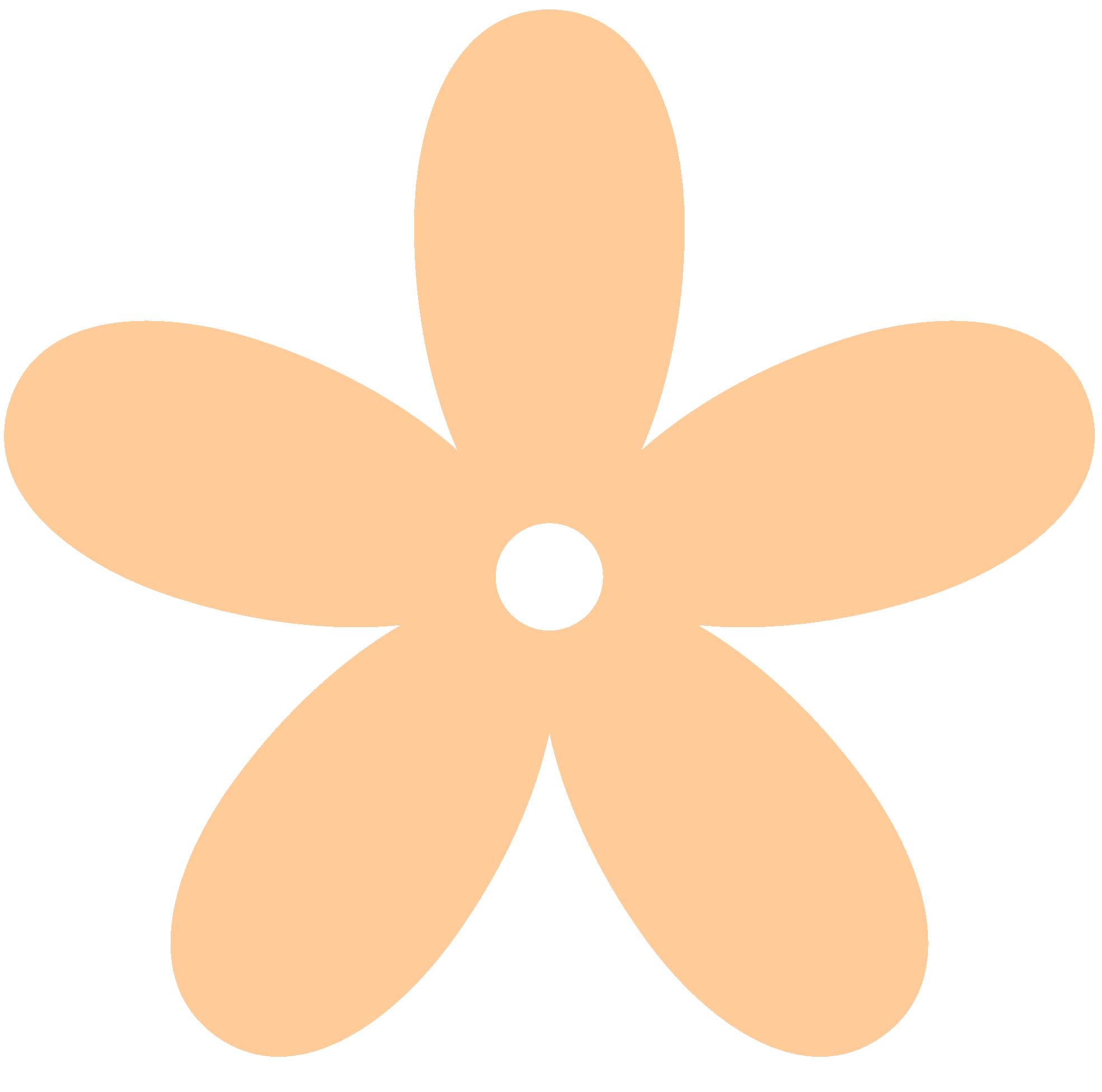 Peach Flower clipart peach color Black Images peach%20clipart%20black%20and%20white Clipart Panda