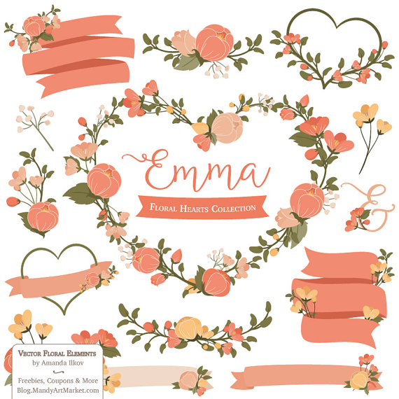 Orange Flower clipart flowery Emma orange flowers & orange