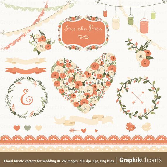 Peach Flower clipart peach heart For 300 Floral