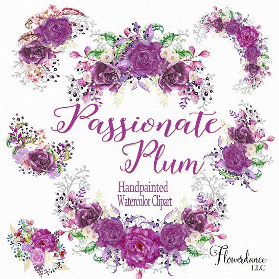 Peach Flower clipart plum Art clipart clipart images Purple