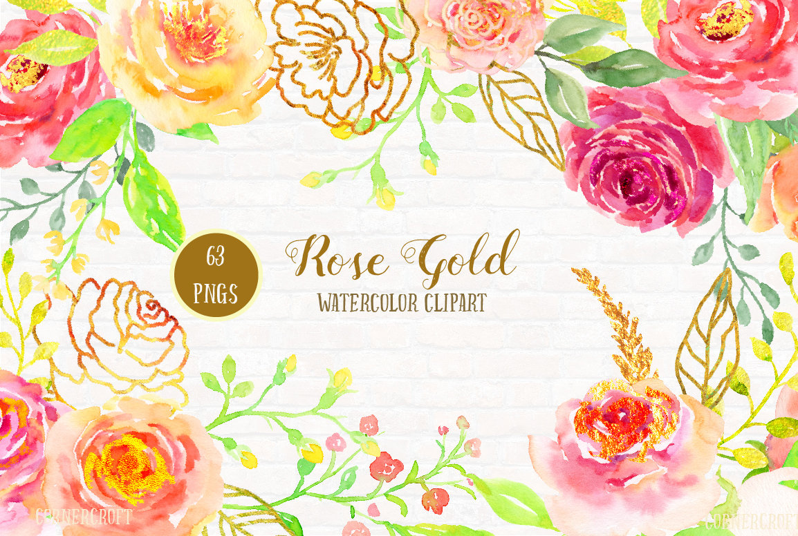 Pink Rose clipart pink gold This pink a file rose