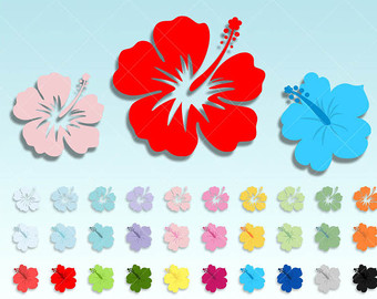 Blue Flower clipart hawaiian luau party Your luau Etsy clipart flower