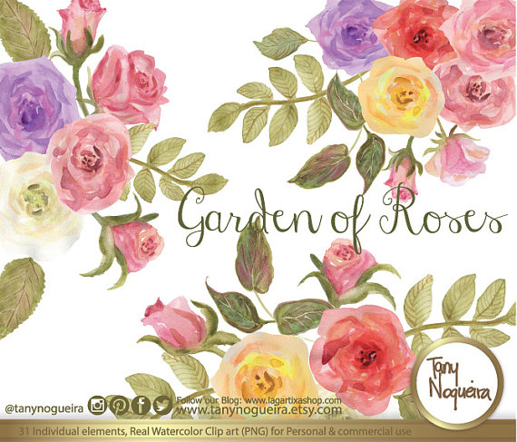 Peach Flower clipart vintage flower Invitations Shabby Peach pink watercolor