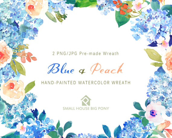 Peach Flower clipart watercolor Art Watercolor a file Clipart