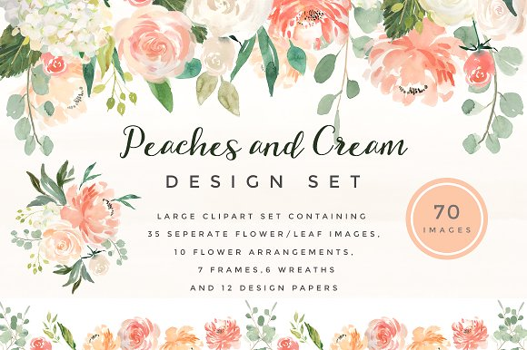 @creativemarket Peaches and and Twigs