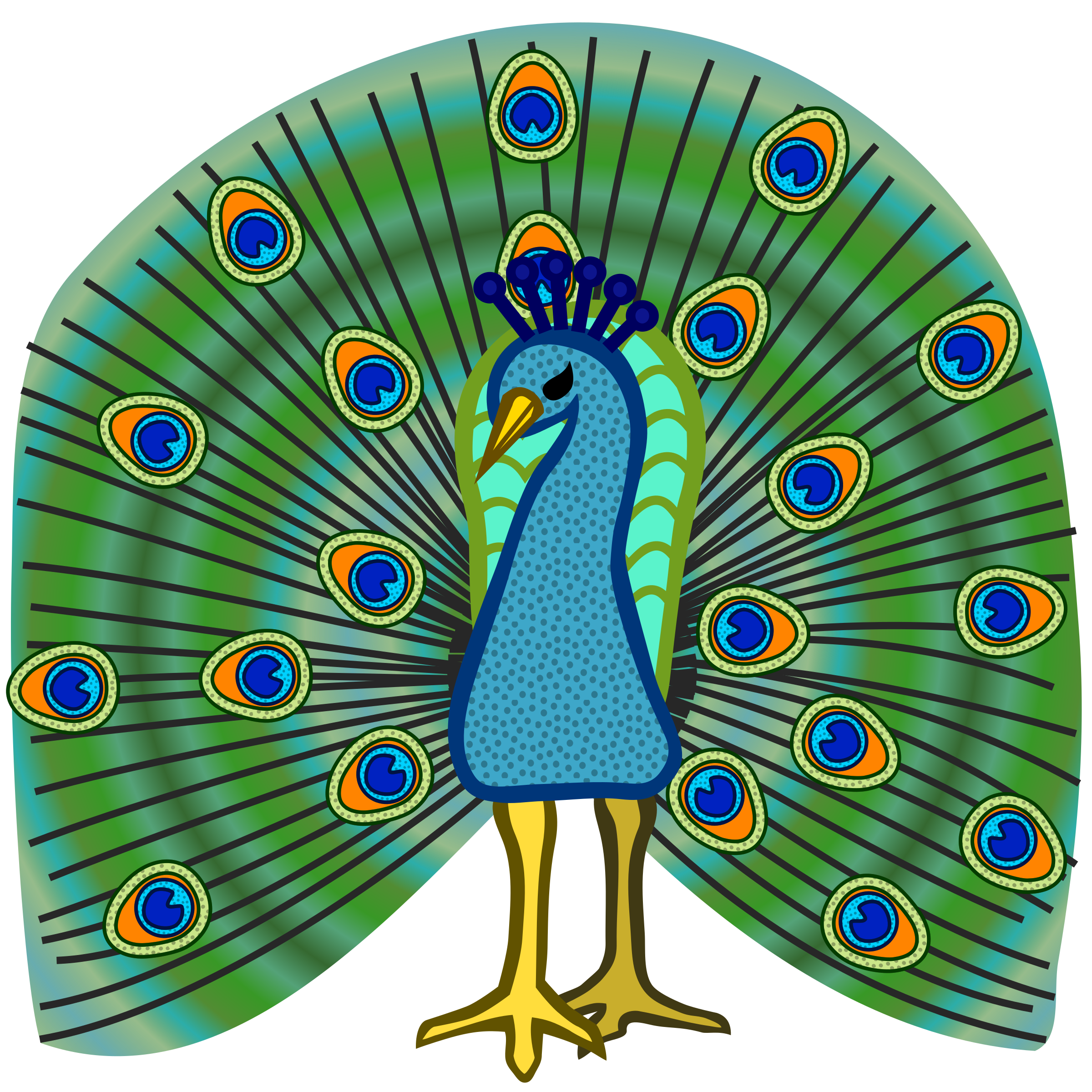 Peacock clipart fotosearch Peacock Cliparting art Clip clipartix