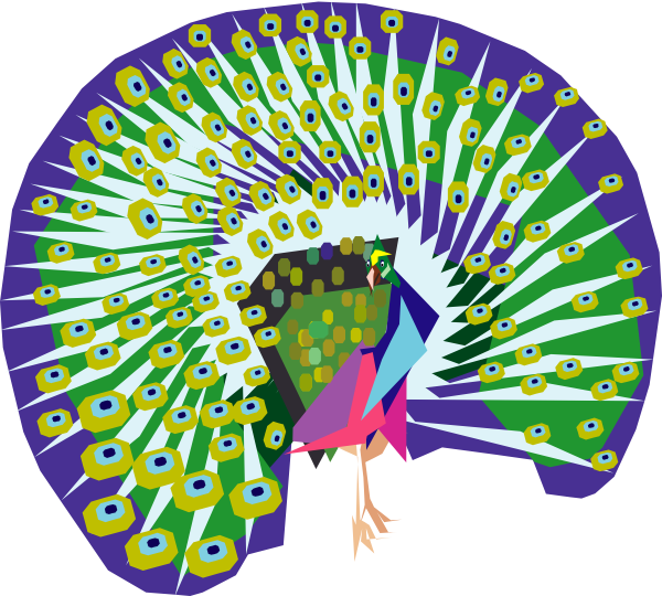 Peacock clipart animated Art this at Clker Peacock
