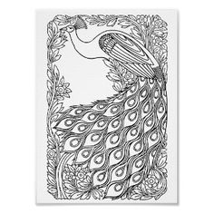 Peacock clipart art nouveau  VintageFeedsacks: Vintage Peacock Book