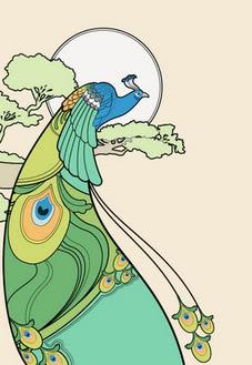 Peacock clipart art nouveau Deco Peacock Deco Art Deco
