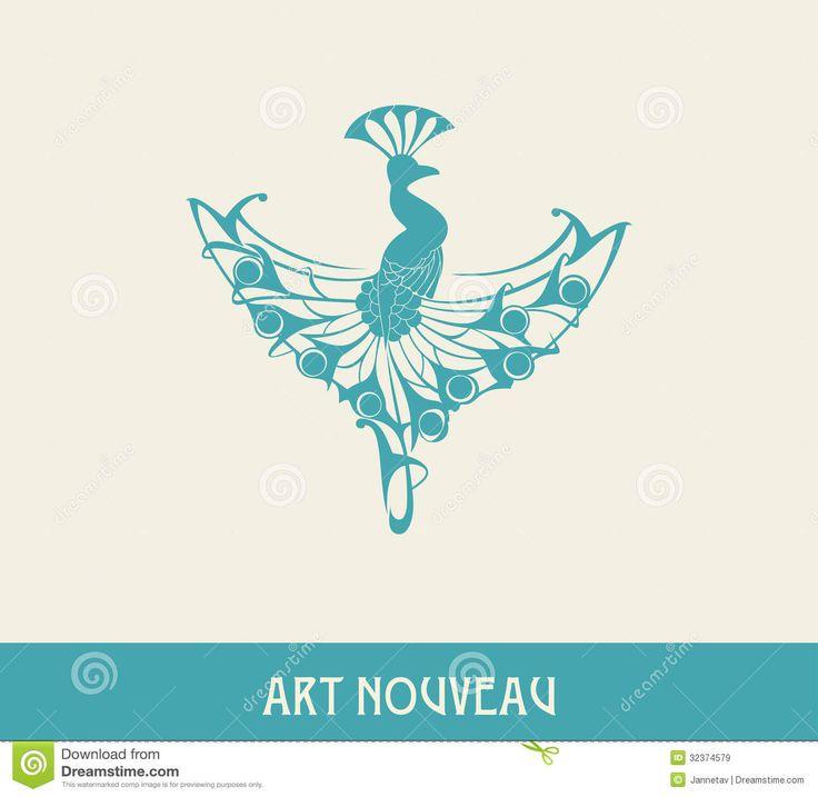 Peacock clipart art nouveau Images Search 17 art on
