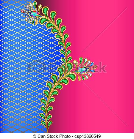 Peacock clipart background Net Vector peacock jewelery Vector