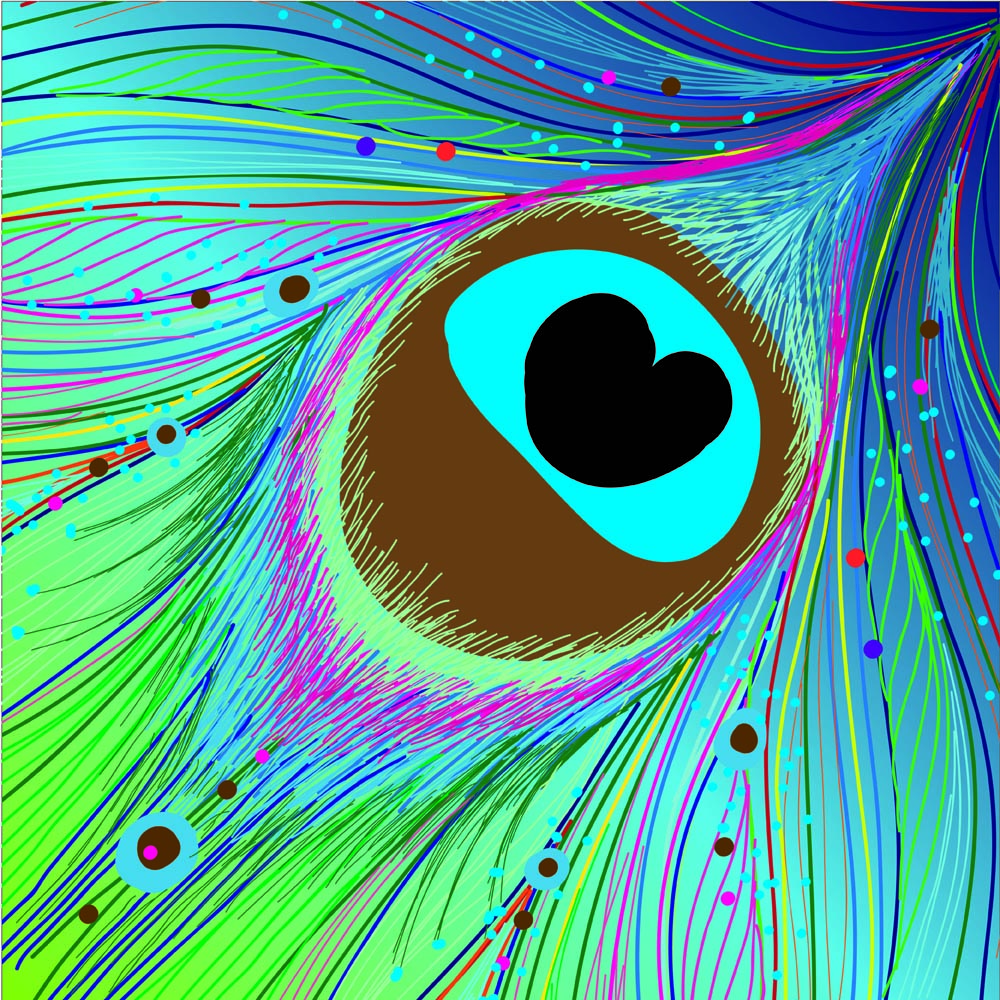 Peacock clipart background Vector Peacock Clip Free Feather