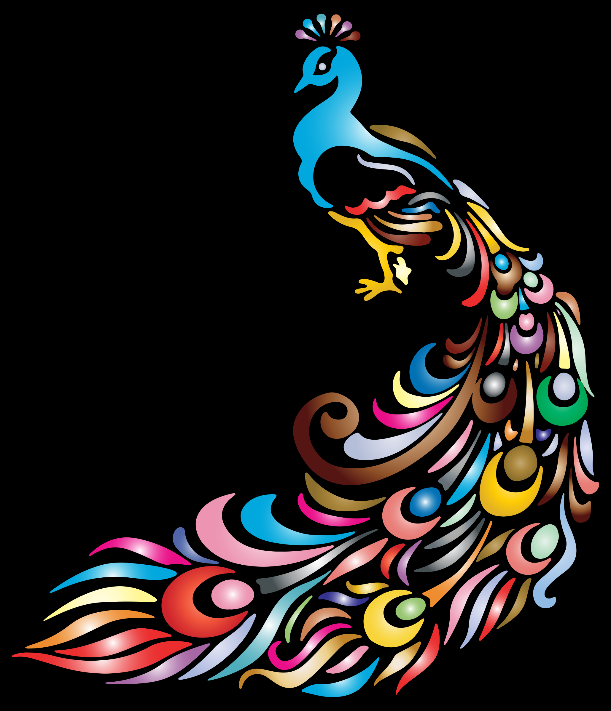 Peacock clipart big Peacock BIG 2 Clipart IMAGE