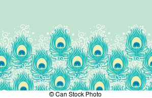 Peacock clipart desined EPS Feathers Clipart 4 vector