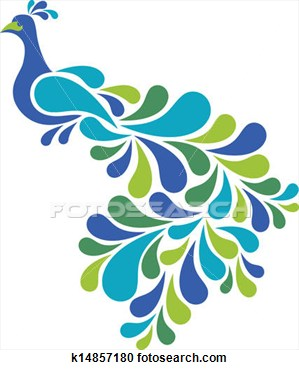 Peacock clipart fotosearch  Abstract Search and Illustration