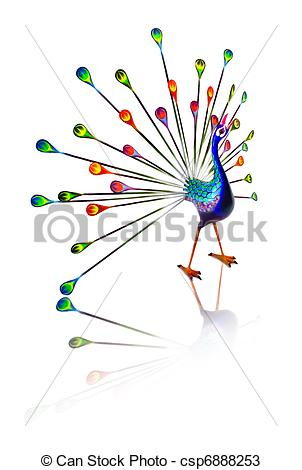 Peacock clipart free hand drawing Carved is type hand csp6888253
