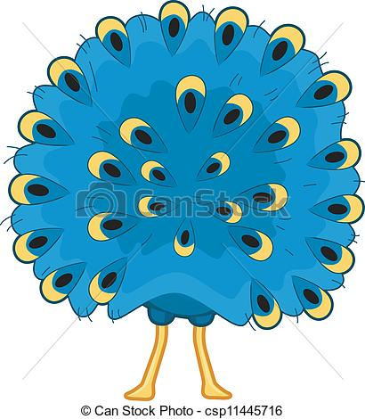 Peacock clipart front view Rabbit Vector Featuring Illustration the
