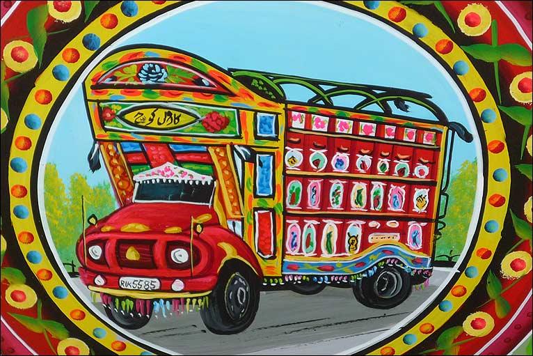 Peacock clipart truck art Pakistani art in BBC vehicle