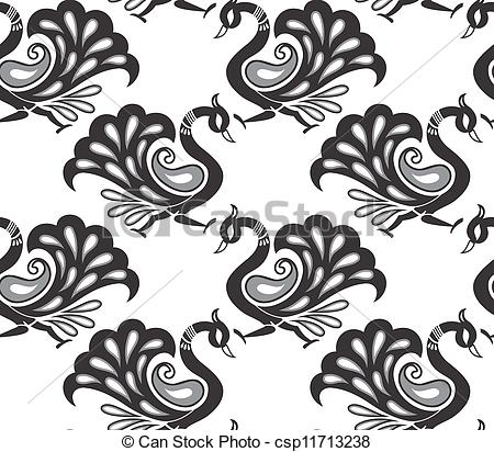 Peacock clipart white background Csp11713238 background Seamless Seamless peacock