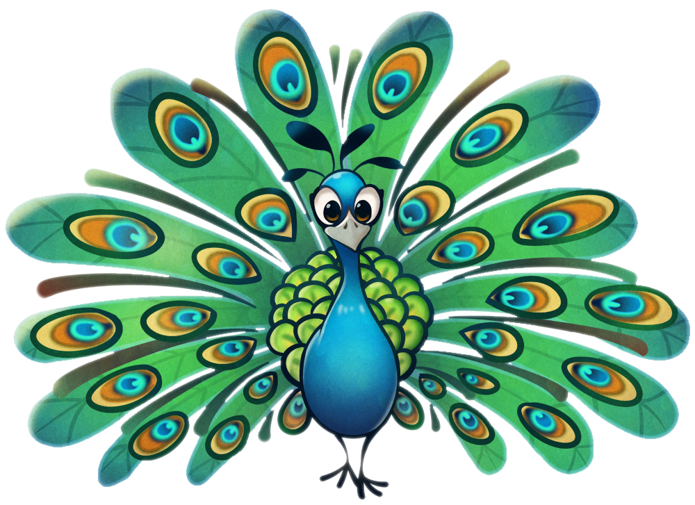 Peafowl clipart *kukon by Cartoon pictures peacock