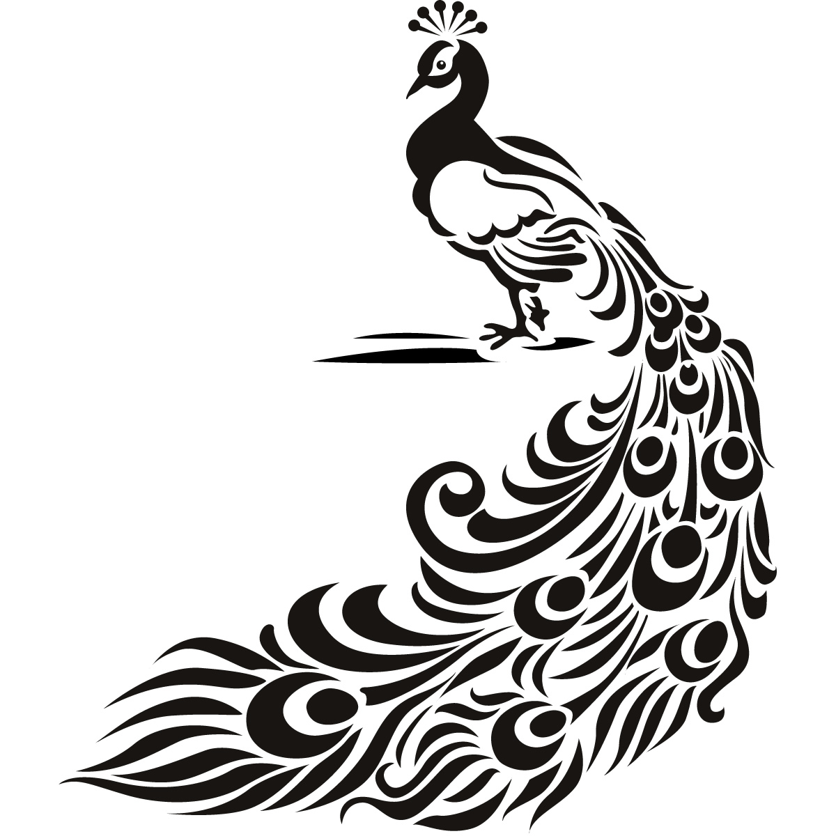 Peafowl clipart black and white Y ClipArt Peacocks Best Peacocks
