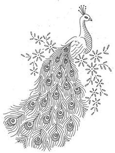 Peacock clipart black and white 17 about peacock images clip