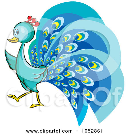 Peafowl clipart cute Cute Cartoon of Peacock of