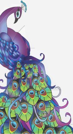 Beautiful clipart peacock Clipart Purple Printable Peacock Clipart