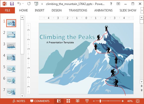 Peak clipart desert mountain The PowerPoint Climbing Templates Animated