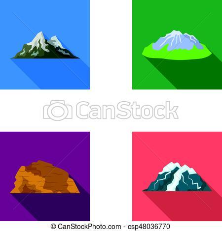 Peak clipart glacier  Mountains of mountains Vectors