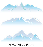 Peak clipart high mountain Mountain Various high Vectors peaks
