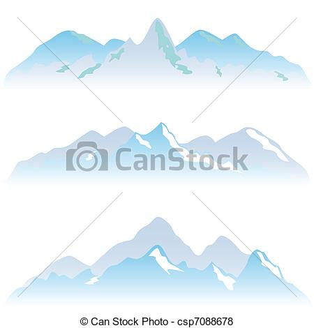 Peak clipart montain Mountain in winter Peaks peaks