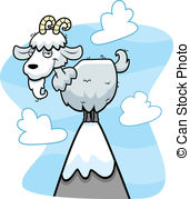 Peak clipart montain Clipart of Goat Top Peak