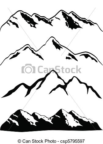 Peak clipart montain Illustration Mountain peaks high of