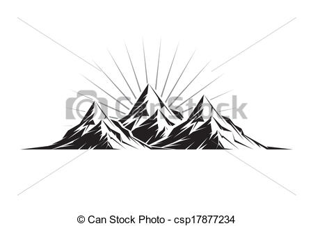 Peak clipart montain Of Peaks Illustration three a