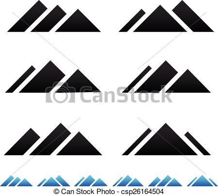 Peak clipart mountain ridge Csp26164504 csp26164504 pictogramms Search mountain