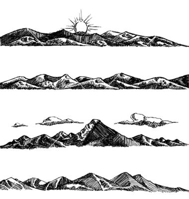 Peak clipart mountain sketch Mountain 132 vector Tattoo? VectorStock®