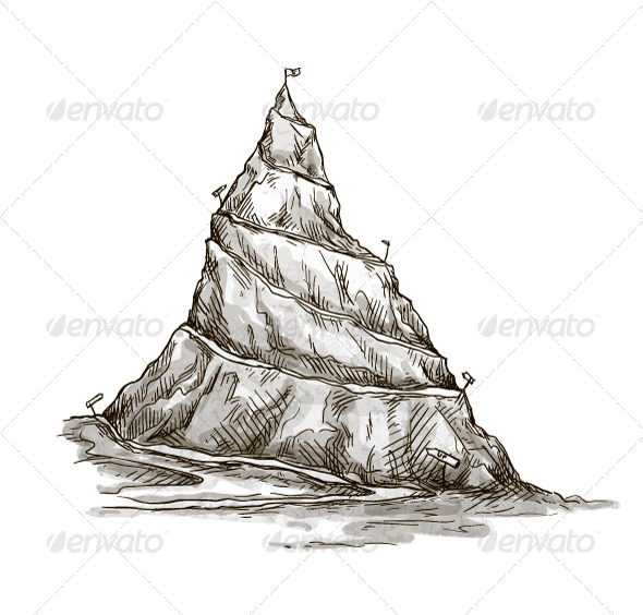 Peak clipart mountain sketch Mountain art drawing Mountain peak