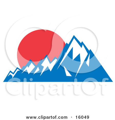 Peak clipart rocky mountain Mountain Peaks Clipart of of