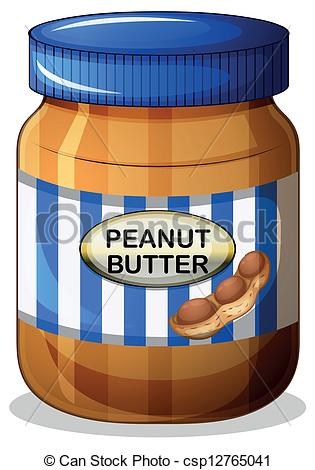 Butter clipart peant Jar a butter  Illustration