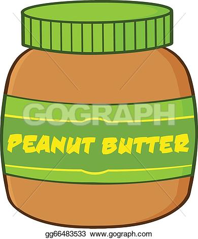 Butter clipart peant Cartoon GoGraph Clip Peanut Jar