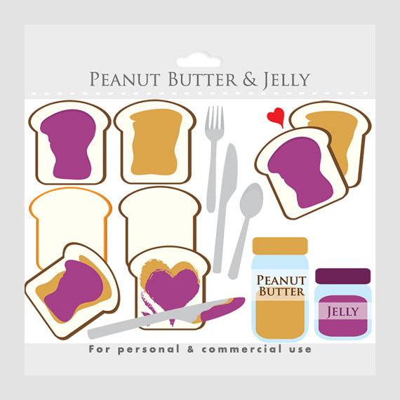 Peanut Butter clipart bread clipart Clipart bread peanut Etsy jelly