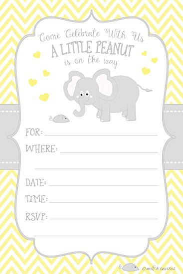 Peanut clipart baby boy Invitations or Style Shower com: