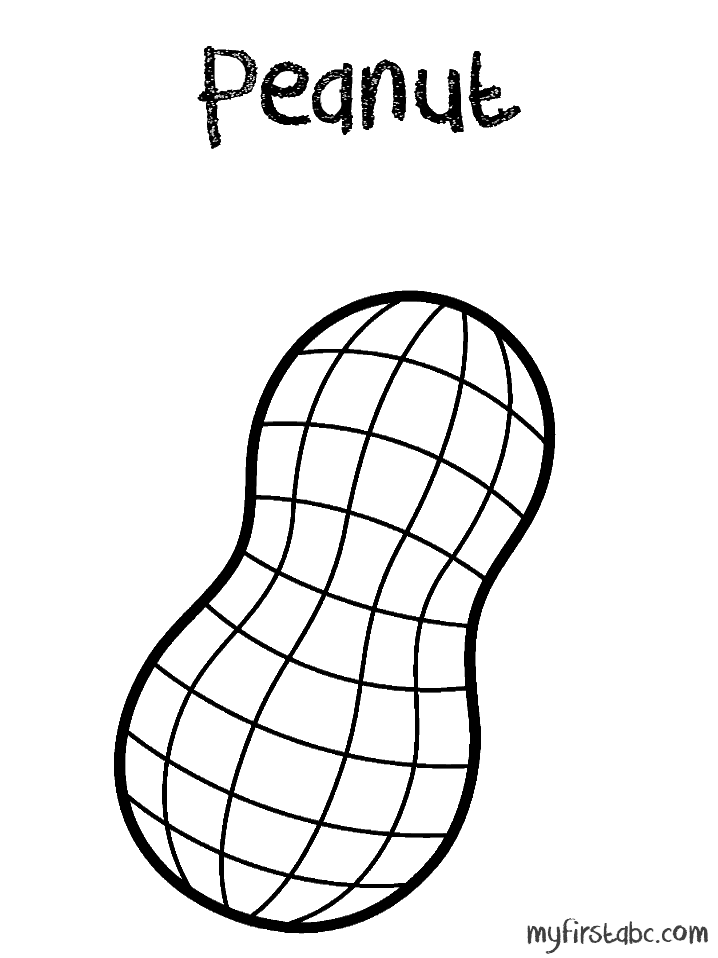 Peanut clipart black and white Pages cancer peanut Colouring Pages