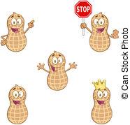 Peanut clipart crown Peanut Clipart Vector  Peanuts