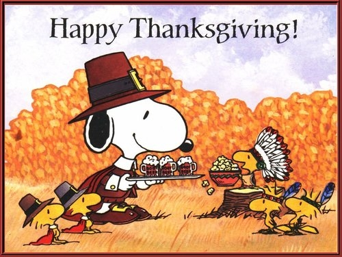 Peanut clipart happy thanksgiving Images for Peanuts Thanksgiving Snoopy
