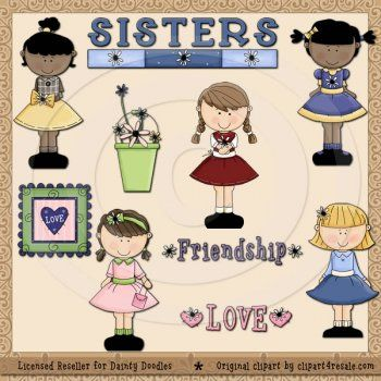 Peanut clipart lil Resale Sisters Clipart 25+ Adorable