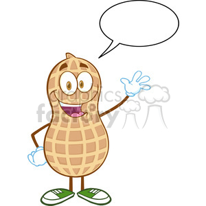 Peanut clipart march Waving Images With on Bubble