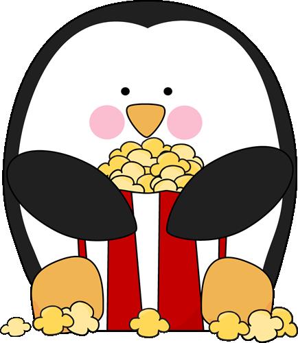 Popcorn clipart cute Penguin Clip Eating Eating Penguin