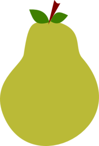 Pear clipart  Clker vector Clip at